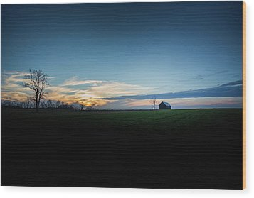 Wood Print featuring the photograph Wide Open Spaces by Shane Holsclaw