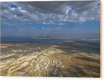 Wide View From Masada Wood Print
