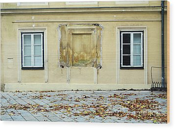 Wiener Wohnhaus Wood Print by Christian Slanec