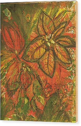 Wild And Wonderful With No Fear Wood Print by Anne-Elizabeth Whiteway