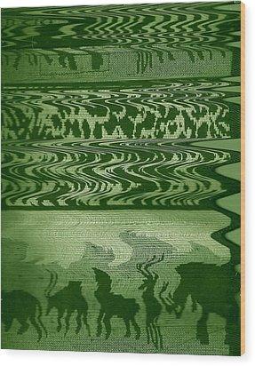Wild  And Ziggy Animals In A Row  Wood Print by Anne-Elizabeth Whiteway
