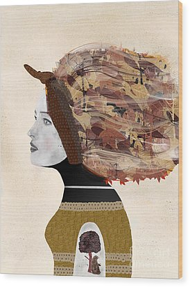 Wood Print featuring the painting Wild Autumn by Bri B