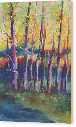 Wild Beasts On Da Bayou Wood Print by Robin Miller-Bookhout