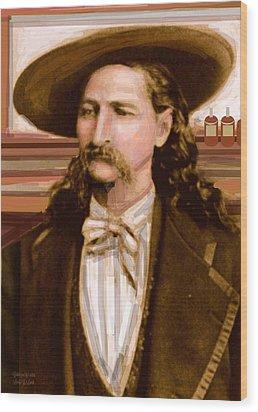 Wild Bill Hickok Wood Print by Larry Lamb