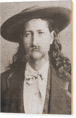 Wild Bill Hickok Was A Celebrated Wood Print by Everett