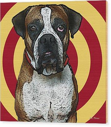 Wild Boxer 2 Wood Print by Bibi Romer