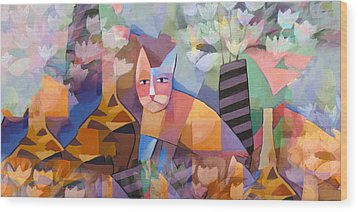 Wild Cat Blues Wood Print by Lutz Baar