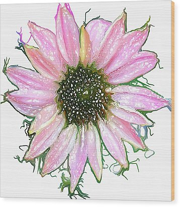 Wood Print featuring the photograph Wild Flower Four by Heidi Smith