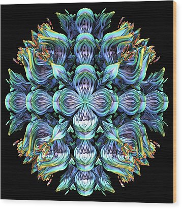 Wood Print featuring the digital art Wild Flower by Lyle Hatch