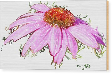 Wood Print featuring the photograph  Wild Flower Three by Heidi Smith