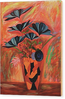 Wood Print featuring the painting Wild Flowers  A Still Life  by Iconic Images Art Gallery David Pucciarelli