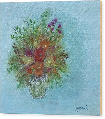 Wild Flowers Wood Print by Harvey Rogosin