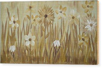 Wild Flowers Wood Print by Kathy Sheeran