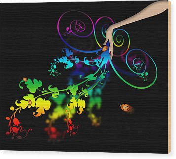 Wild Flowers Wood Print by Svetlana Sewell