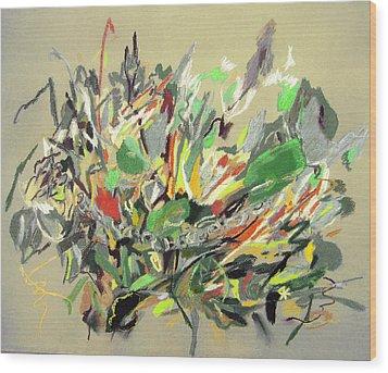 Wild Flowers  Wood Print by Tadeush Zhakhovskyy