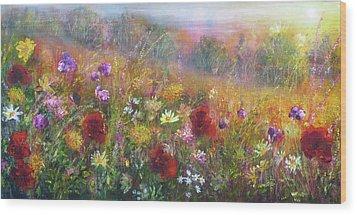 Wild Glory Wood Print by Ann Marie Bone