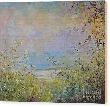 Wild Grasses Of Saugatuck Wood Print