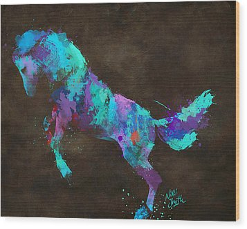 Wood Print featuring the digital art Wild Horses Couldn't Drag Me Away From You by Nikki Marie Smith