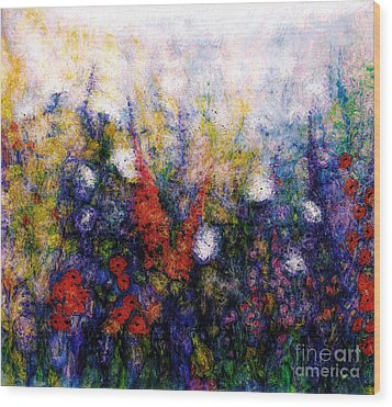 Wild Meadow Flowers Wood Print by Claire Bull