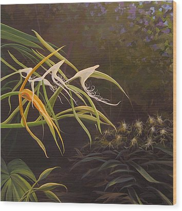 Wild Orchids Wood Print