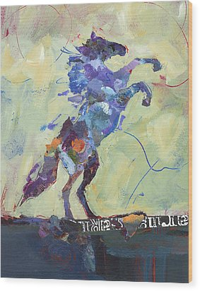 Wild Pony Wood Print