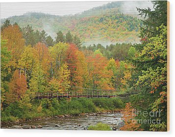 Wood Print featuring the photograph Wild River Bridge by Susan Cole Kelly