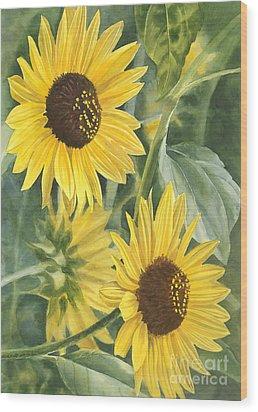 Wild Sunflowers Wood Print by Sharon Freeman
