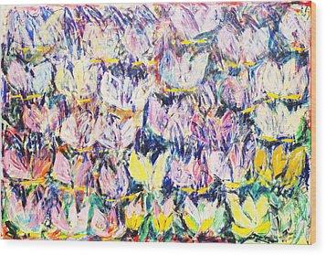 Wild Tulips Wood Print by Joan De Bot