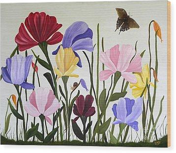 Wild Tulips Wood Print