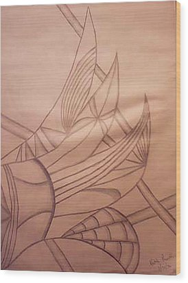 Wild Vines Wood Print