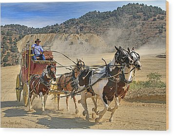 Wild West Ride Wood Print
