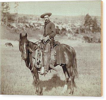Wild West. The Cow Boy. Sturgis, Dakota Wood Print by Everett