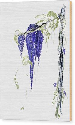 Wild Wisteria Wood Print by Sibby S