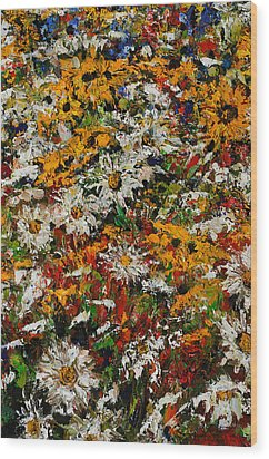 Wildchild Flowers Close-up Wood Print by Robert James Hacunda