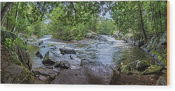 Wood Print featuring the photograph Wilderness Waterway by Bill Pevlor