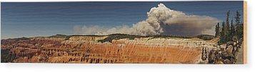 Wildfire Cedar Breaks National Monument Utah Wood Print