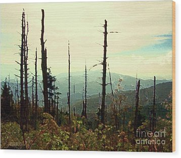 Wood Print featuring the mixed media Wildfire by Desiree Paquette