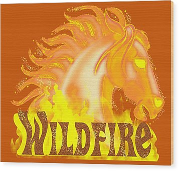 Wildfire Wood Print