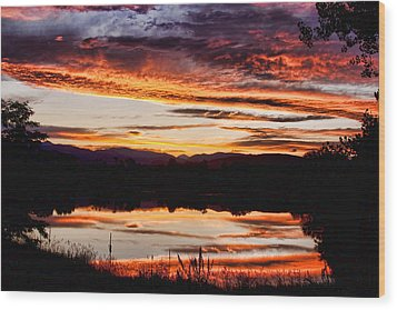 Wildfire Sunset Reflection Image 28 Wood Print by James BO  Insogna