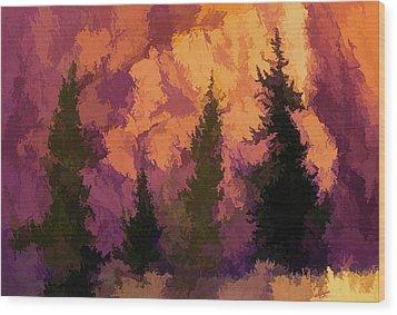 Wildfires Wood Print