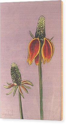 Wildflower 1 Wood Print by Ixchel Amor