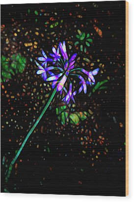 Wildflower Wood Print by Ann Powell