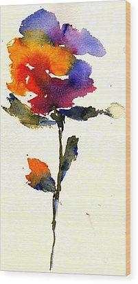 Wildflower Wood Print by Anne Duke