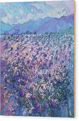 Wildflower Dawn Wood Print by Erin Hanson