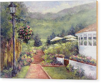 Wildflower Inn Wood Print