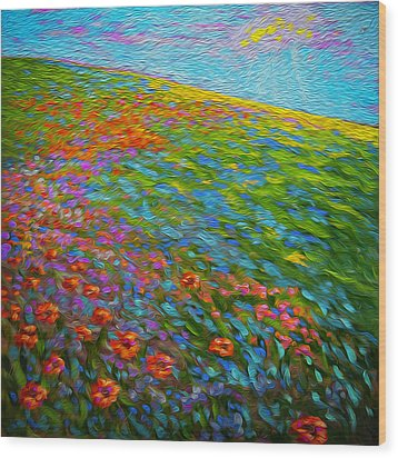 Wildflower Pastoral Wood Print
