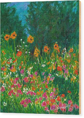 Wildflower Rush Wood Print
