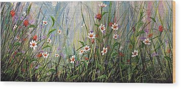 Wildflowers Wood Print by Dee Carpenter