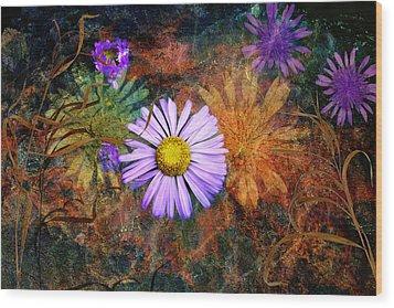 Wildflowers Wood Print by Ed Hall