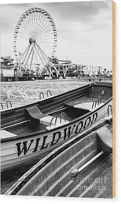 Wildwood Black Wood Print by John Rizzuto